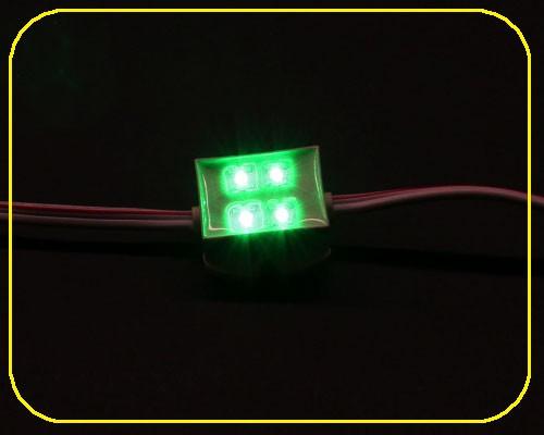 LED Module 4 LED 12 V 120° 0,48 Watt grün – Bild 1