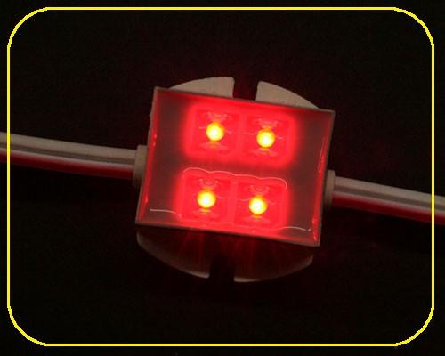 LED Module 4 LED 12 V 120° 0,48 Watt rot – Bild 1