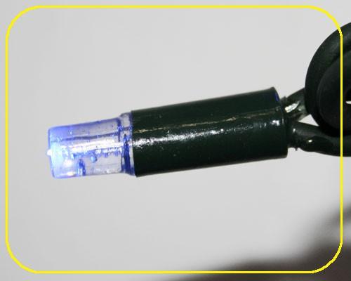 LED Cord Light 6 m, 60 blaue LEDs, Kabel schwarz IP44 – Bild 2