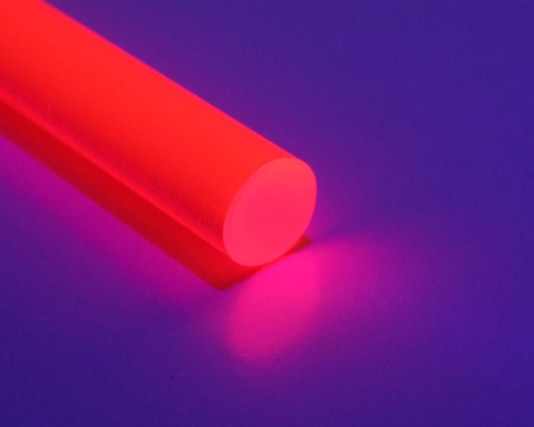 2 m fluo LISA® Acrylstab Rund XT Ø15mm rot