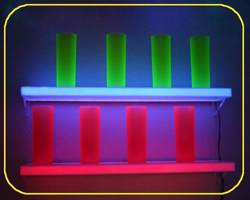 LED sideboard 60 x 15 x 2,5 cm, 20 LEDs rot – Bild 1