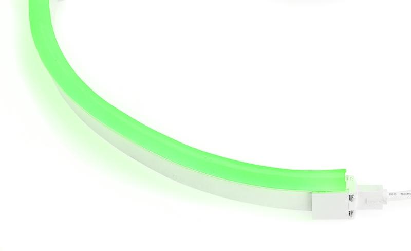 LED Neon Flex Pro | 24 VDC | 12 W/m | Grün | 280lm/m | 10m Rolle | dimmbar – Bild 1