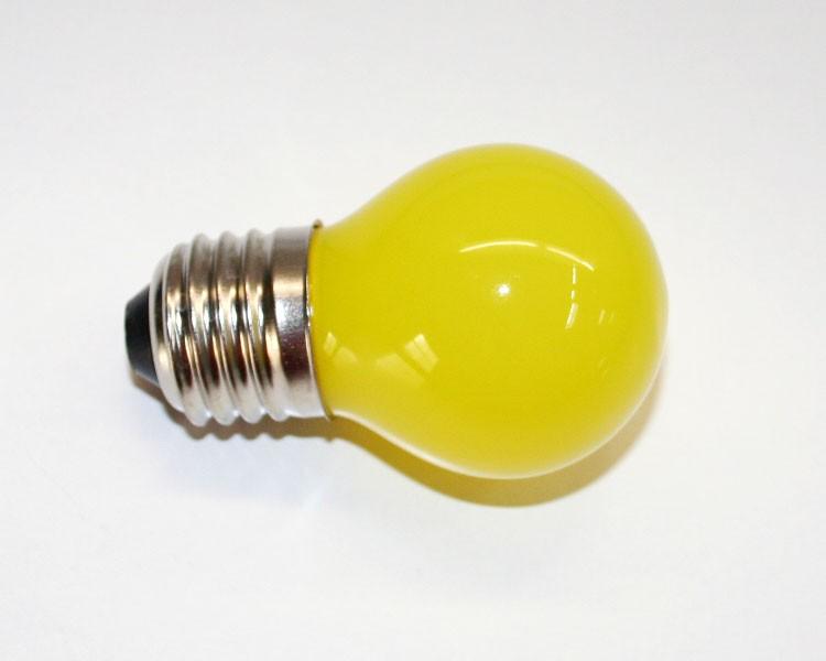 E27 LED Birne milchig 1W, 230 V Gelb – Bild 1
