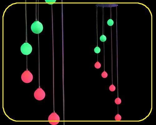 LED Kugellampe mit 8 Kugeln und Fernbedienung  – Bild 1