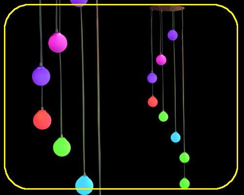 LED Kugellampe mit 8 Kugeln und Fernbedienung  – Bild 3