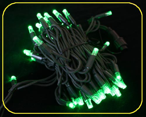 LED Cord Light 6 m, 60 grünee LEDs, Kabel schwarz IP44 – Bild 4