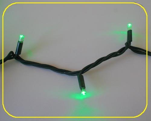 LED Cord Light 6 m, 60 grünee LEDs, Kabel schwarz IP44 – Bild 5
