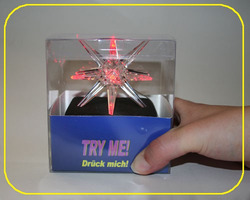 LED Acryl Stern RGB Try-Me inkl. Batterie – Bild 3
