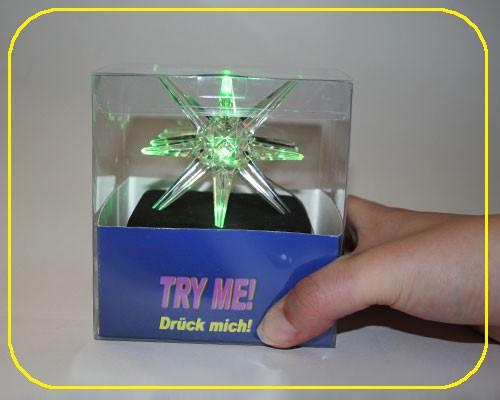 LED Acryl Stern RGB Try-Me inkl. Batterie – Bild 4