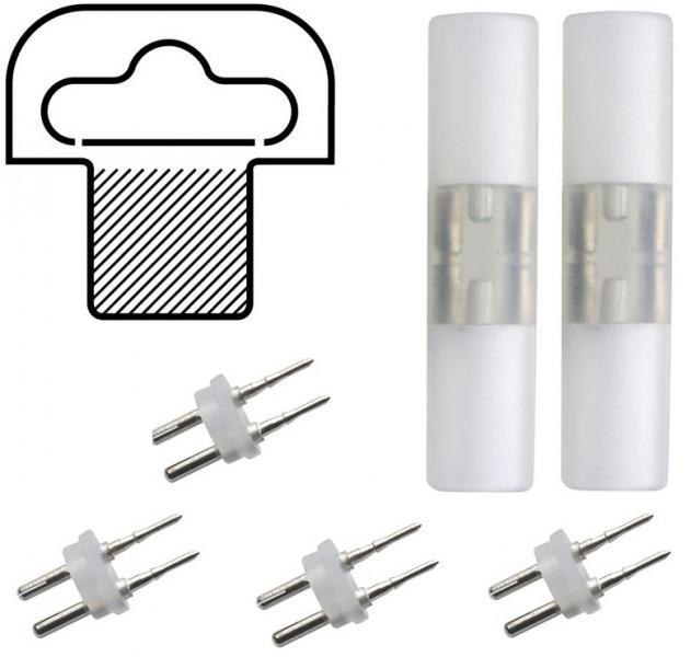 2 x Längsverbinder mit Kleber + 4 Pins