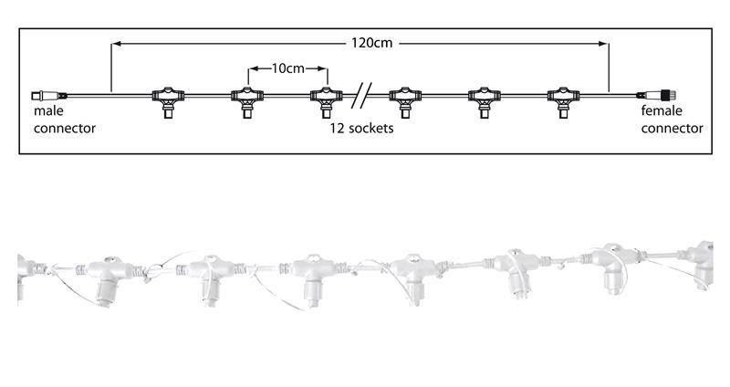 Hauptstrang weiß 1,2m, 12 Fassg – Bild 1