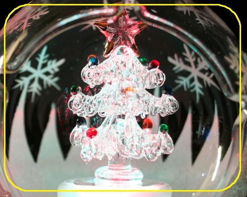 Glaskugeln RGB Tannenbaum 8,5 cm mit Batterien – Bild 2