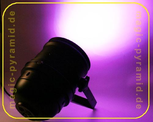 LED PAR 64 Strahler 432 LEDs, 230 V schwarz – Bild 1