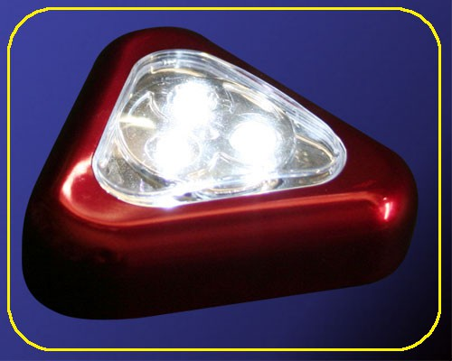 LED Multifunktionsleuchte Triangle Rot – Bild 1