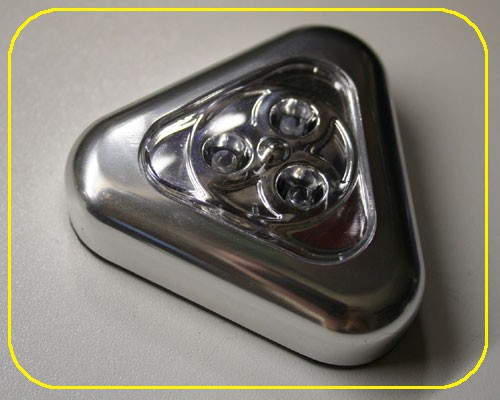 LED Multifunktionsleuchte Triangle Silber  – Bild 1