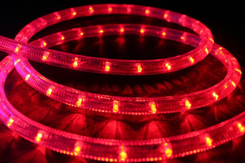 230V | LED Lichtschlauch Premium Rot | 200cm Abschnitt | Dimmbar IP44 – Bild 1