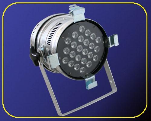 LED PAR64-Strahler chrom 24 W 230 V IP20 – Bild 1