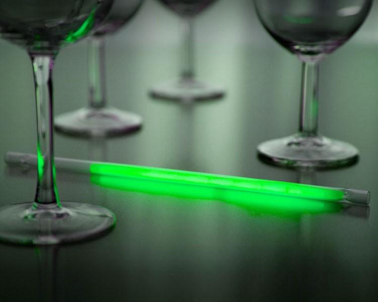 Leuchtstrohhalm mit grünem Maxi Knicklicht, 25 Stück – Bild 1