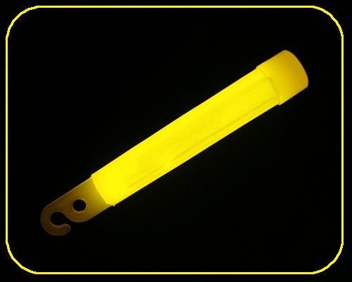 4 Zoll GlowSticks Ø 12 mm, 10 cm lang, gelb – Bild 1