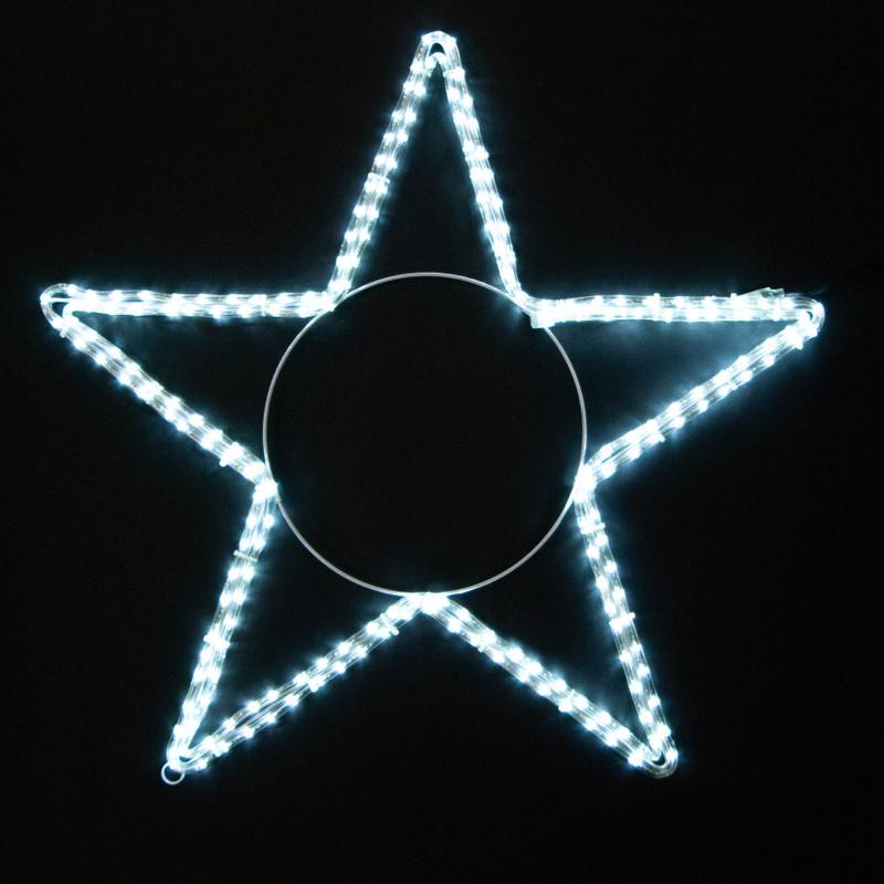LED Motiv: Sterne 5 Zacken Ø 80 cm LED weiß – Bild 3