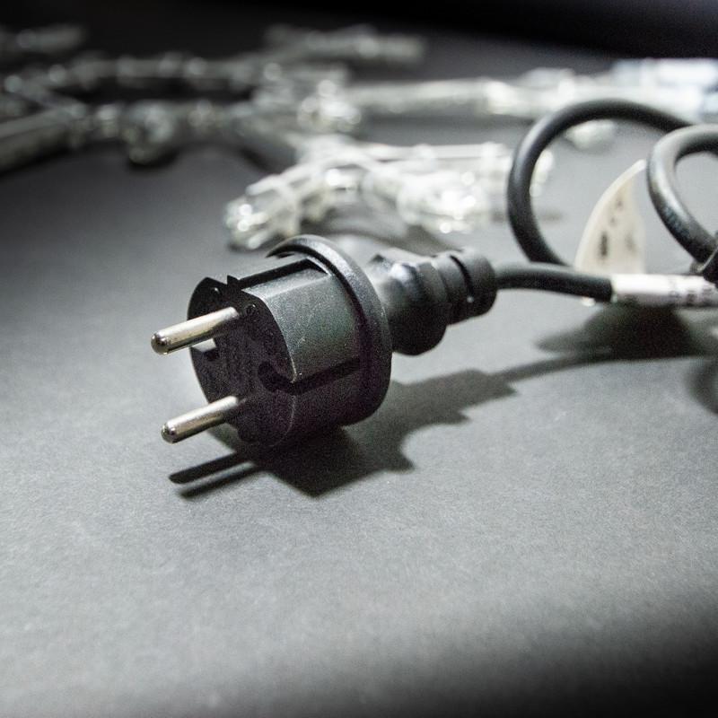 LED-Motiv: Schneeflocke Ø 53 cm LED blau – Bild 3