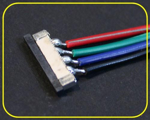 Einspeiser Spange 4-adrig für RGB Flex Tape – Bild 1