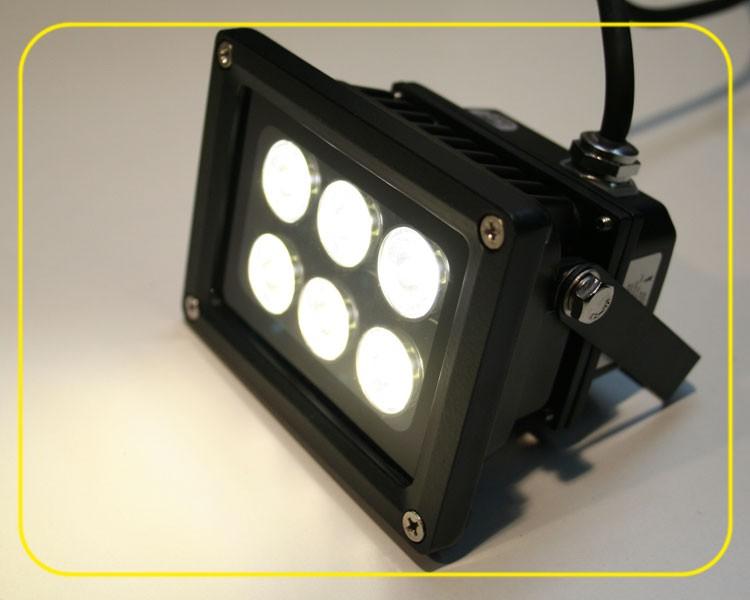 LED Fluter 10°-100° kaltweiß 6 Watt 230V IP65