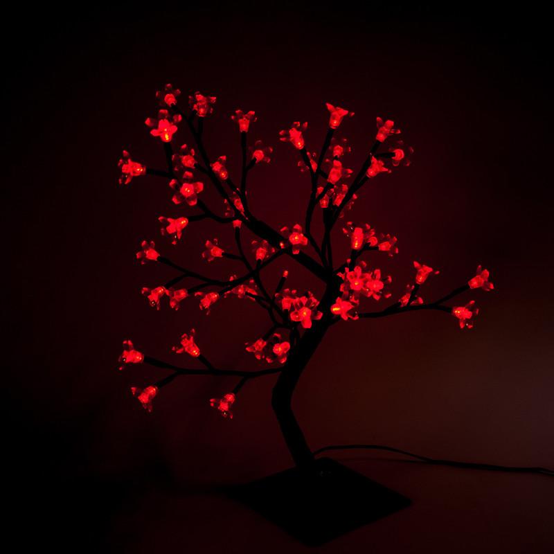 LED Baum 50 cm Rot, 64 LEDs – Bild 2