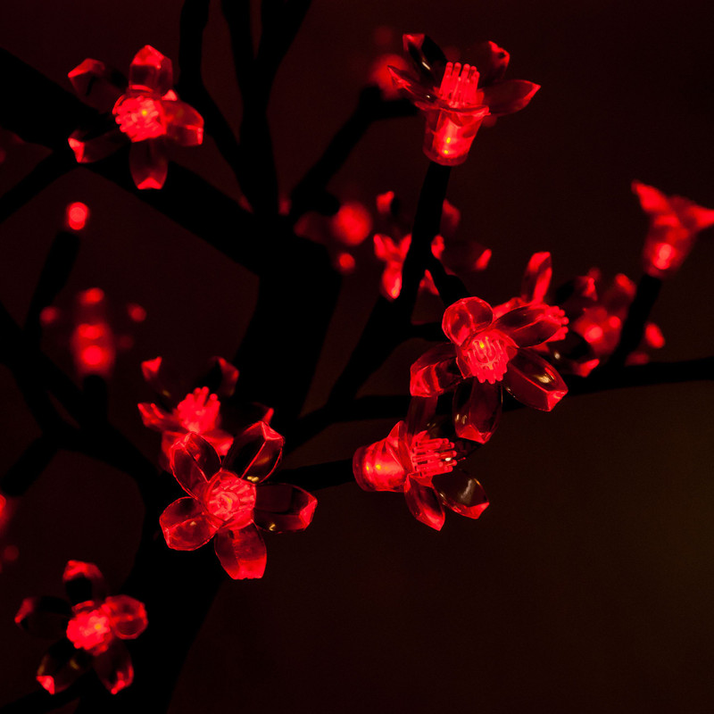 LED Baum 50 cm Rot, 64 LEDs – Bild 3