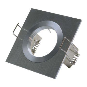 Einbaurahmen HighEnd 1-fach | Quadratisch 80 x 80 mm | Alu gebürstet  | nicht verstellbar