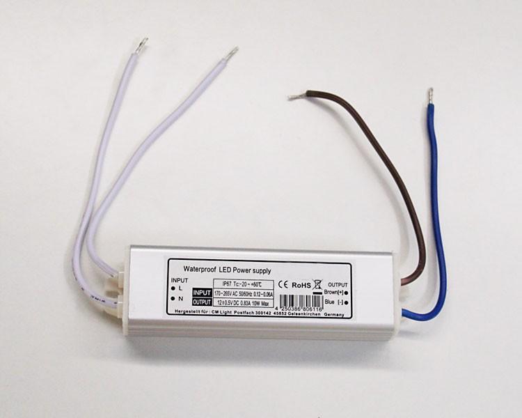 Trafo 12 V DC 0.83A, 10 W Blocktyp wasserfest IP67 – Bild 2