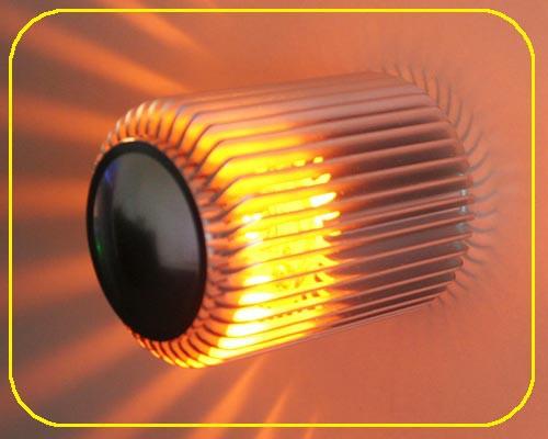 LED Wandlampe PLUTO Gelb 1W 12V IP20