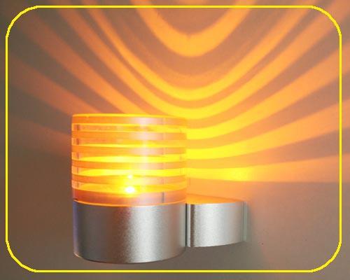 LED Wandlampe TERRA Gelb 1W 12V IP20
