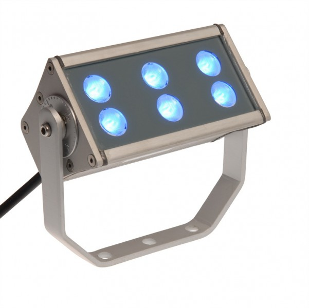 LED Fluter 6 x 3 Watt | LED 18 Watt | blau | 240V 15°x45°