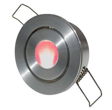 LED Einbaustrahler Downlight Alu 2,5W | Rot | 50mm | Kippfedern