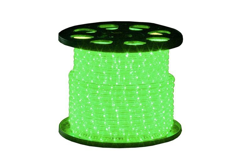 Lichtschlauch Klar | Grün | 45m 230V | Rund 13mm | IP44