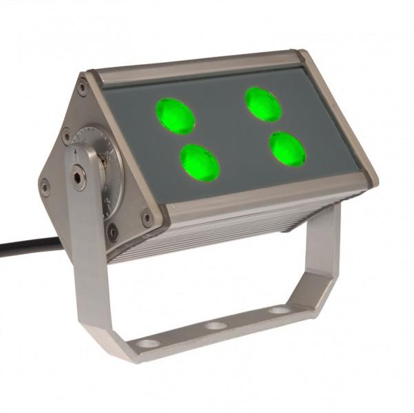 LED Fluter 12W | 4x CREE | grün | 230 V | 45° – Bild 1