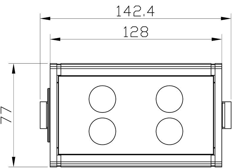 LED Fluter 12W | 4x CREE | grün | 230 V | 45° – Bild 5