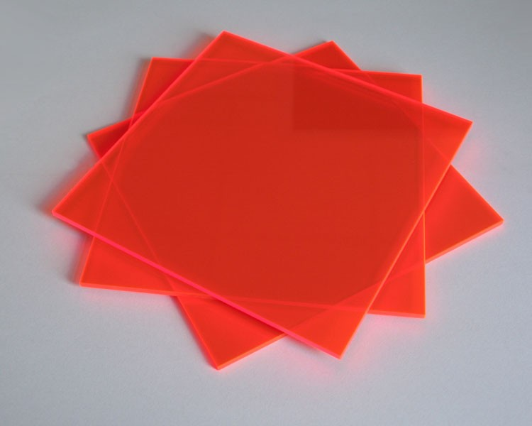 Lucy Platte 3mm | 675x504 mm | fluoresz. orange – Bild 2