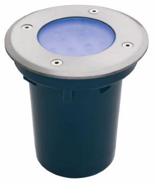 LED Bodeneinbau Spot Blau 12V IP67 Ø110mm