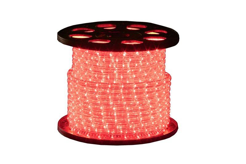 Lichtschlauch Klar | Rot | 45m 230V | Rund 13mm