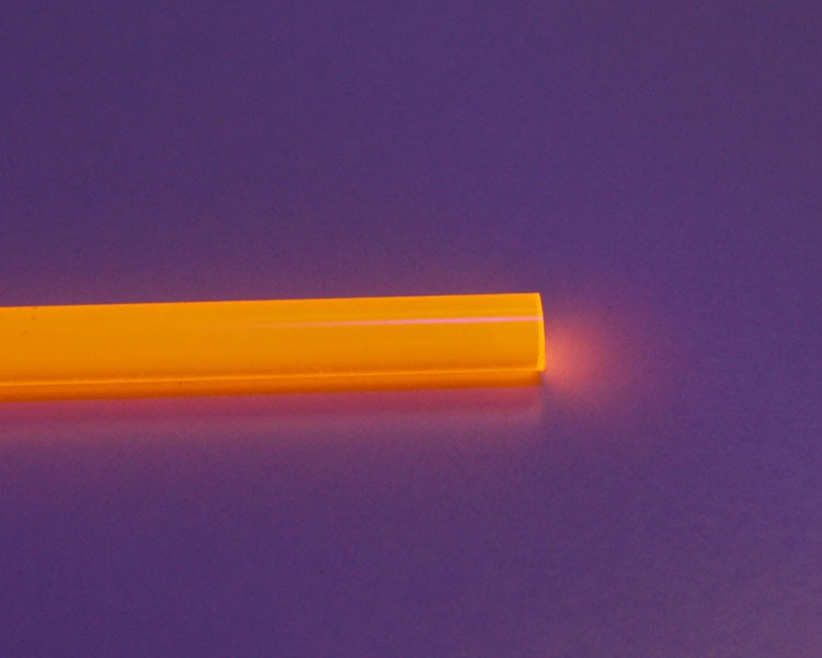 2m Glow PVC Rundstab fluo orange Ø 6 mm – Bild 2