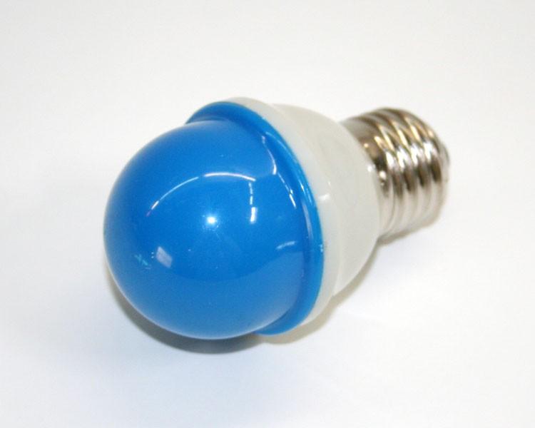 1W.LED Birne Ø48mm 10LED, E27, 230V. milchig blau – Bild 3