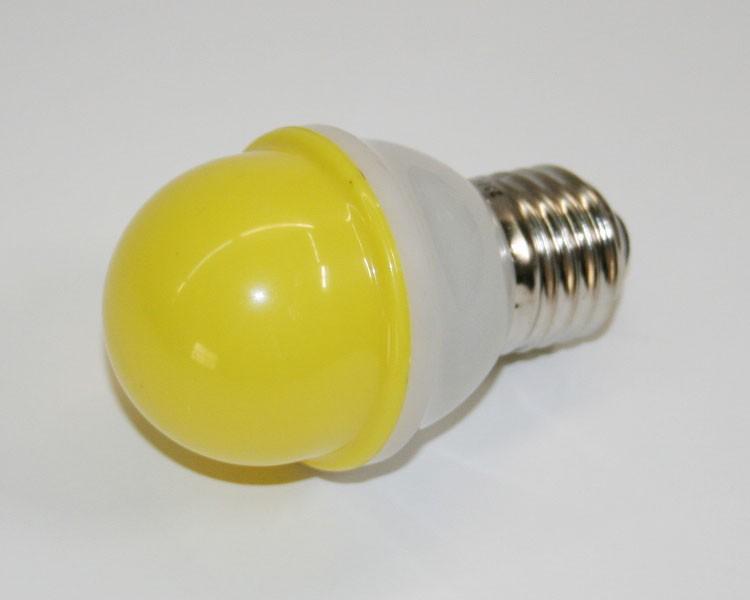 1W.LED Birne Ø48mm 10LED, E27, 230V. milchig gelb – Bild 3