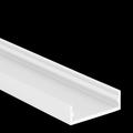 2 m Alu U-Profil extra flach 24 x 8 mm ohne Abdeckung