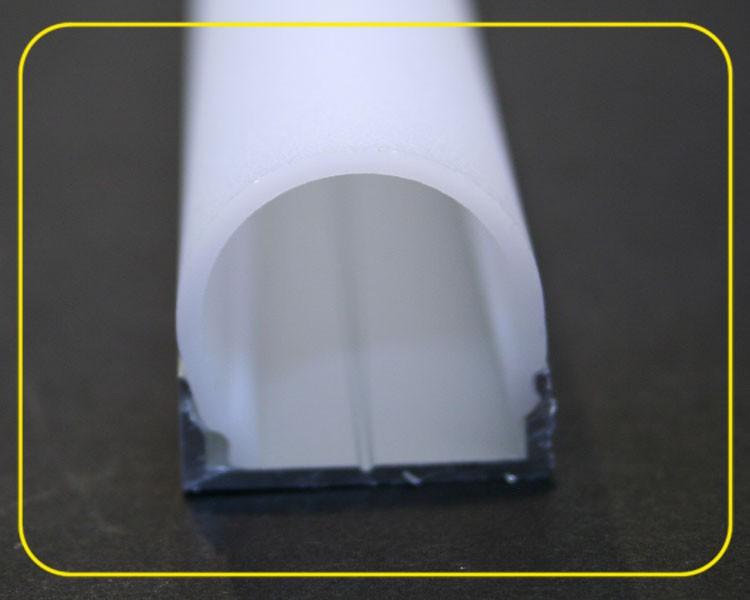 2 m halbrunde weiß matte Abdeckung für U-Profil 126-985 – Bild 5