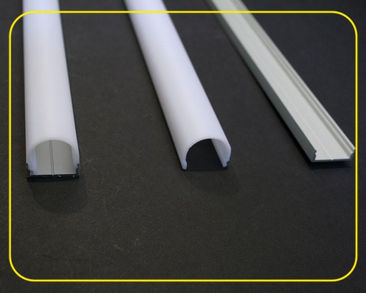 2 m halbrunde weiß matte Abdeckung für U-Profil 126-985 – Bild 6