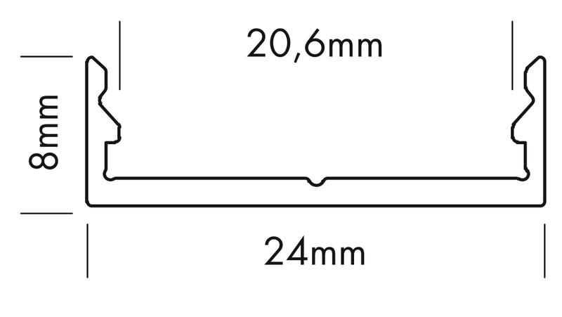 2 m flache milchige Abdeckung für U-Profil 126-985 – Bild 3