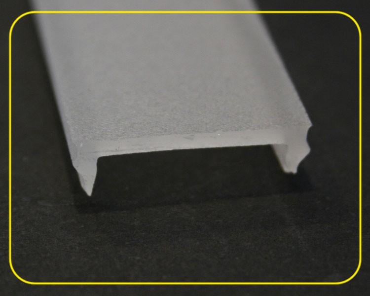 2 m flache milchige Abdeckung für U-Profil 126-985 – Bild 4