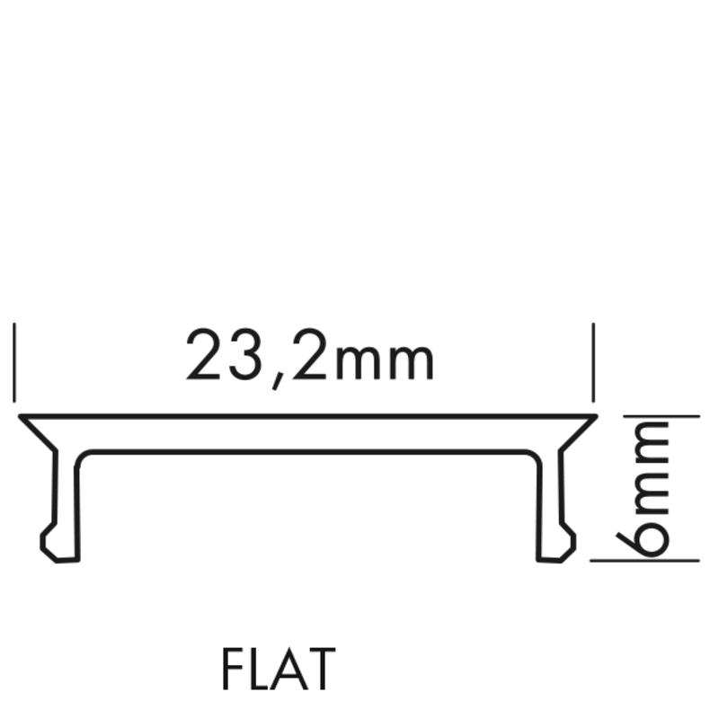 2 m flache glasklare Abdeckung für Profil 126-985 – Bild 1